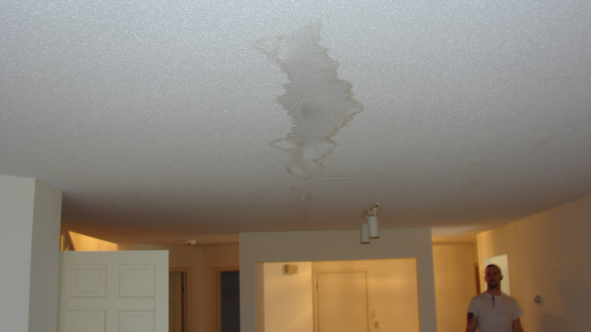 Big Water Spot On Ceiling To Be Fixed