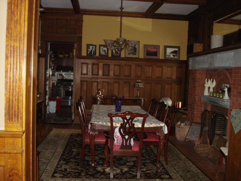 Restored Wood Paneled Dining Room