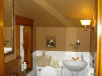 Renovated Bathroom Woodwork Refinishing