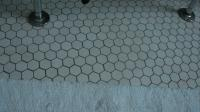Hexagonal Bathroom Tile Installation