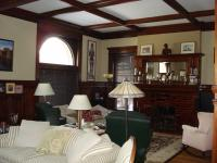 Refinished Fireplace, Paneling and Ceiling Beams