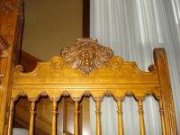 Restored Ornate Wood Ballustrade