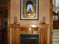 Restored Wood Fireplace and Mantle
